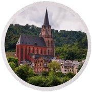 Church Of Our Lady  Oberwesel Am Rhein Round Beach Towel