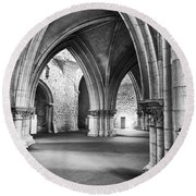 Church Of The Sao Francisco Convent Round Beach Towel