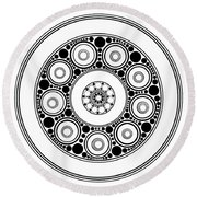 Circle Motif 138 Round Beach Towel
