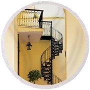 Circular Staircase Round Beach Towel