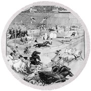Circus Poster, 1900 Round Beach Towel