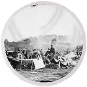 Civil War: Wounded, 1862 Round Beach Towel