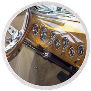 Classic Car Interior Round Beach Towel