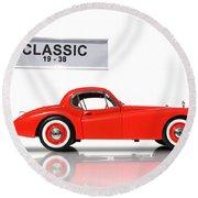 Classic Car Round Beach Towel