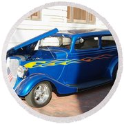 Classic Custom Car Round Beach Towel