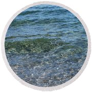 Clear Waters 3 Round Beach Towel