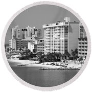 Clearwater Beach Florida Round Beach Towel