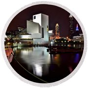 Cleveland Lakefront Round Beach Towel