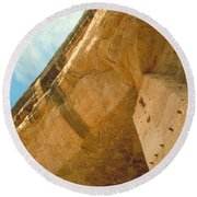 Cliff Palace Tower Round Beach Towel