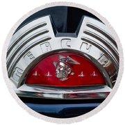 Close-up Of A Mercury Classic Car Of Round Beach Towel