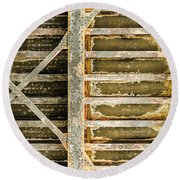 Close-up Of A Weathered Wall, Los Round Beach Towel