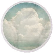 Cloud Series 3 Of 6 Round Beach Towel