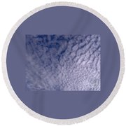 Lots Of Clouds Round Beach Towel