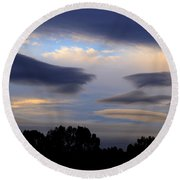 Cloudy Day 2 Round Beach Towel