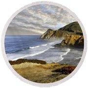 Coastal Beauty Impasto Round Beach Towel