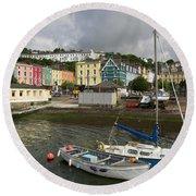 Cobh Town In Ireland Round Beach Towel