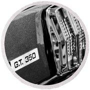 Cobra Gt 350 Taillight Emblem Round Beach Towel