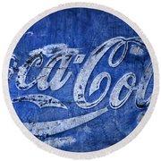Coca Cola Blues Round Beach Towel