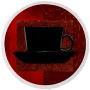 Coffee Passion Round Beach Towel by Lourry Legarde