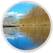 Coldwater Lake Round Beach Towel