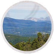 Colorado Continental Divide 5 Part Panorama 5 Round Beach Towel