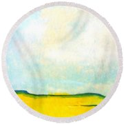 Colorado Spring Round Beach Towel