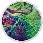 Colored Round Beach Towel