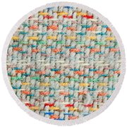 Colorful Blanket Round Beach Towel