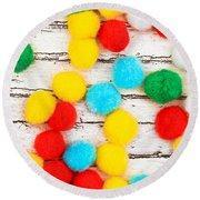 Colorful Bonbons Round Beach Towel