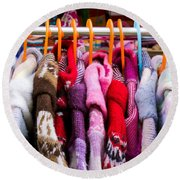 Colorful Coats Round Beach Towel