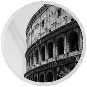 Colosseum - Rome Italy Round Beach Towel