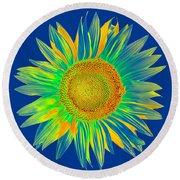 Colourful Sunflower Round Beach Towel
