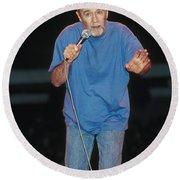 Comedian George Carlin Round Beach Towel
