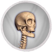 Conceptual Image Of Human Skull Round Beach Towel