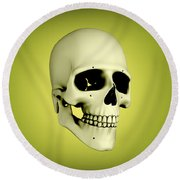 Conceptual View Of Human Skull Round Beach Towel
