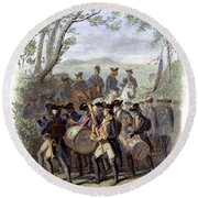 Continental Army Band Round Beach Towel