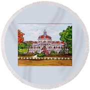 Convent Of Mary Immaculate Round Beach Towel