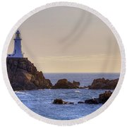 Corbiere Lighthouse - Jersey Round Beach Towel