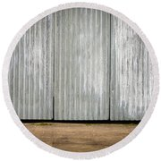 Corrugated Metal Round Beach Towel