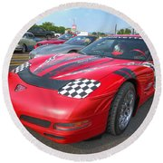 Corvette Z06 Round Beach Towel