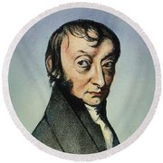Count Amedeo Avogadro (1776-1856) Round Beach Towel