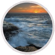 Covered By The Sea Round Beach Towel