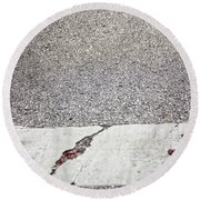Cracked Round Beach Towel by Margie Hurwich