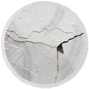 Cracked Stucco Round Beach Towel