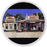 Crossroads Store Bar Juke Joint And Gas Station Fsa Marion Post Wolcott Melrose Louisiana Round Beach Towel