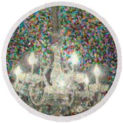 Crystal Chandelier Round Beach Towel