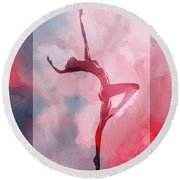 Dancing In The Clouds Round Beach Towel