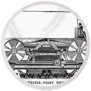Daugherty Typewriter, 1895 Round Beach Towel