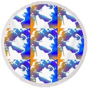 David Repeat Treatment One Color Round Beach Towel