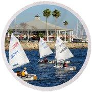 Davis Island Yacht Club Round Beach Towel